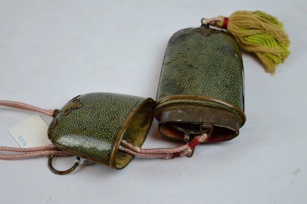Pair of Old Chinese Bronze Eyeglasses & Case - 6