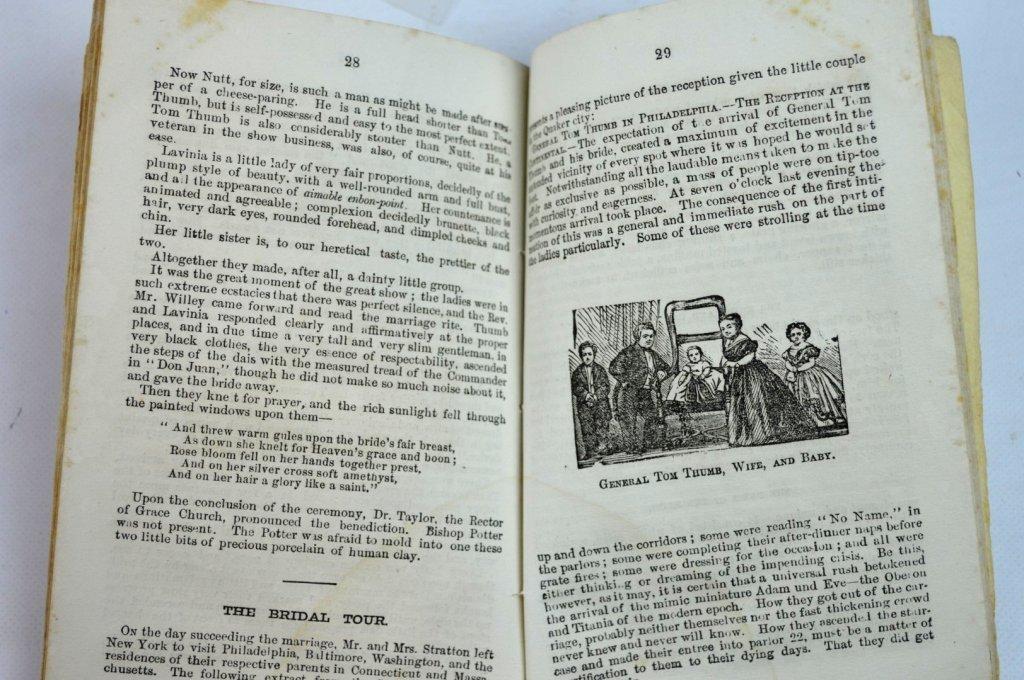 "3 - Rare Autographed ""Tom Thumb"" CDV's & Book - 10"