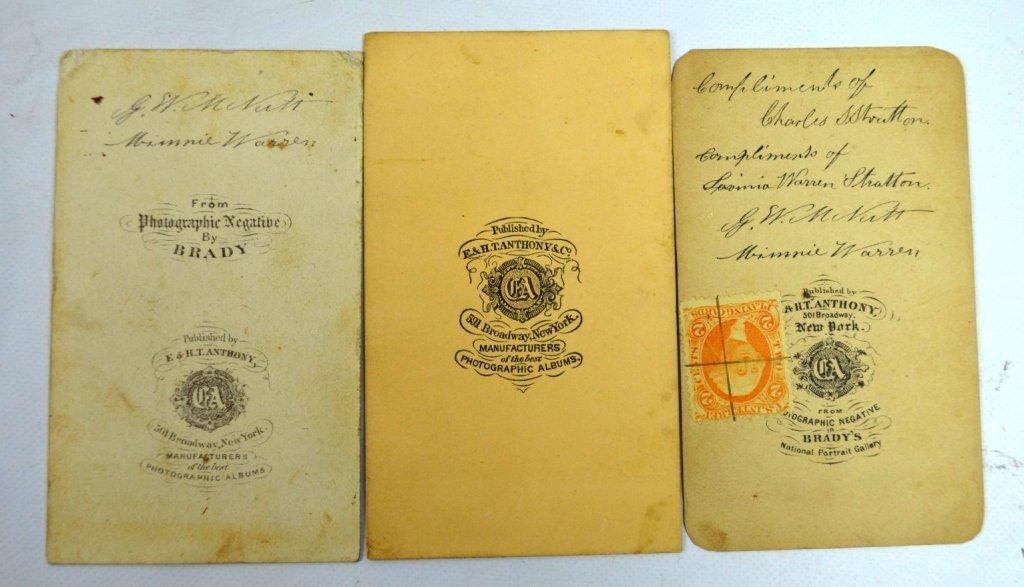 "3 - Rare Autographed ""Tom Thumb"" CDV's & Book - 5"