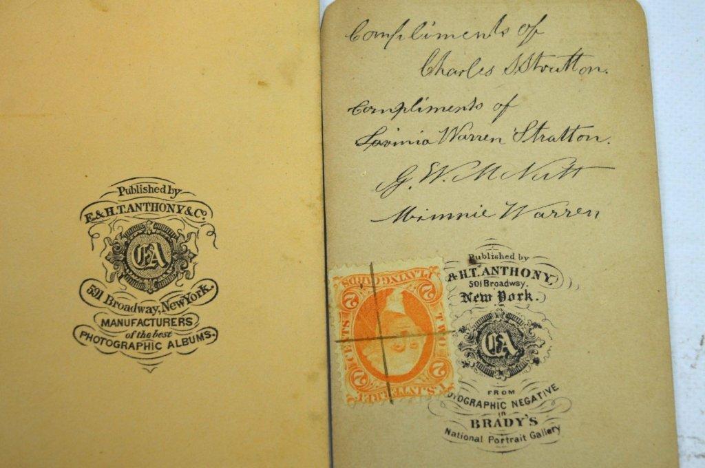 "3 - Rare Autographed ""Tom Thumb"" CDV's & Book - 6"