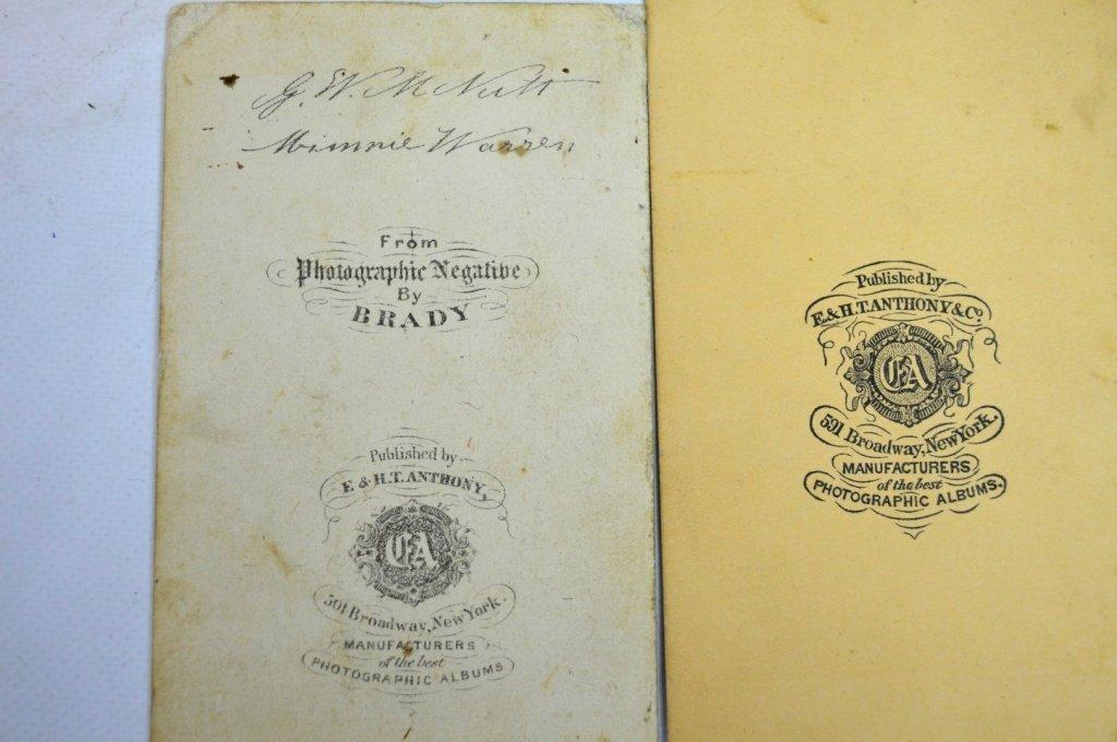 "3 - Rare Autographed ""Tom Thumb"" CDV's & Book - 7"