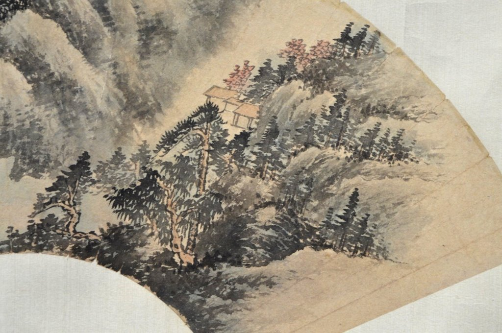 Antique Chinese Landscape Painting in Ink & Color - 2