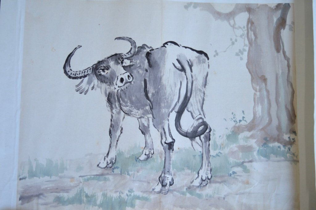 Xu Beihong; 8 Chinese Prints of Zodiac Animals - 2