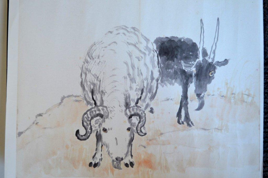 Xu Beihong; 8 Chinese Prints of Zodiac Animals - 5
