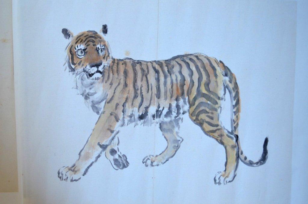 Xu Beihong; 8 Chinese Prints of Zodiac Animals - 8