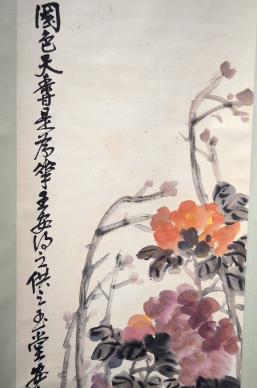 4- Chinese Color & Ink on Paper; Flowers 4 Seasons - 2