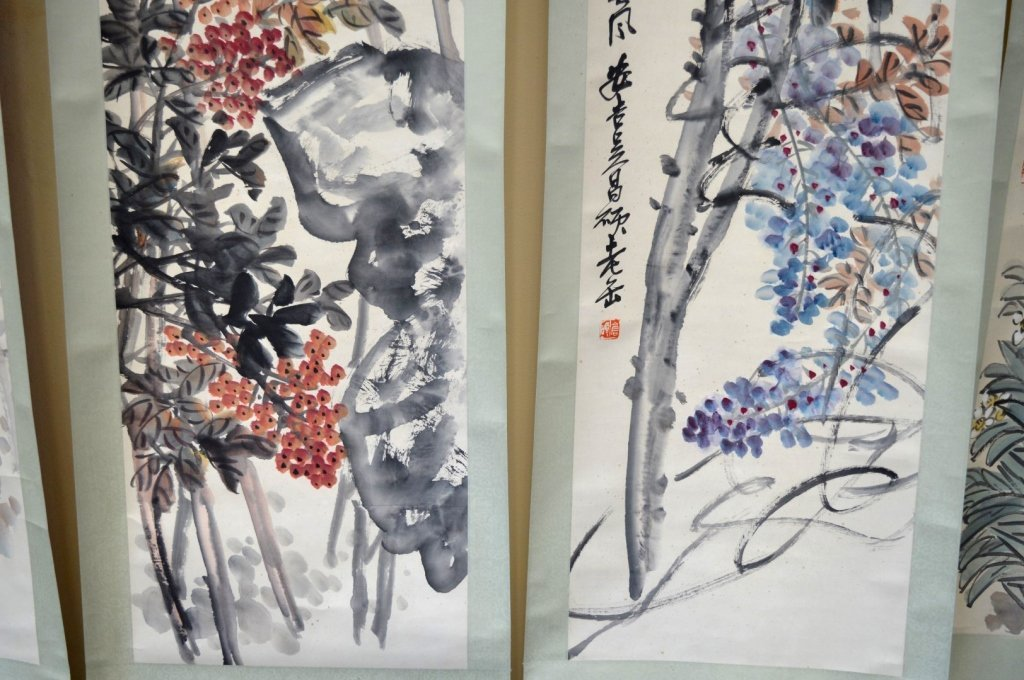 4- Chinese Color & Ink on Paper; Flowers 4 Seasons - 7