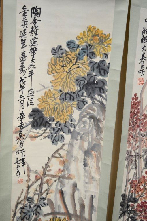 4- Chinese Color & Ink on Paper; Flowers 4 Seasons - 8