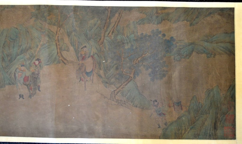 Long Chinese Historical Handscroll on Silk - 2