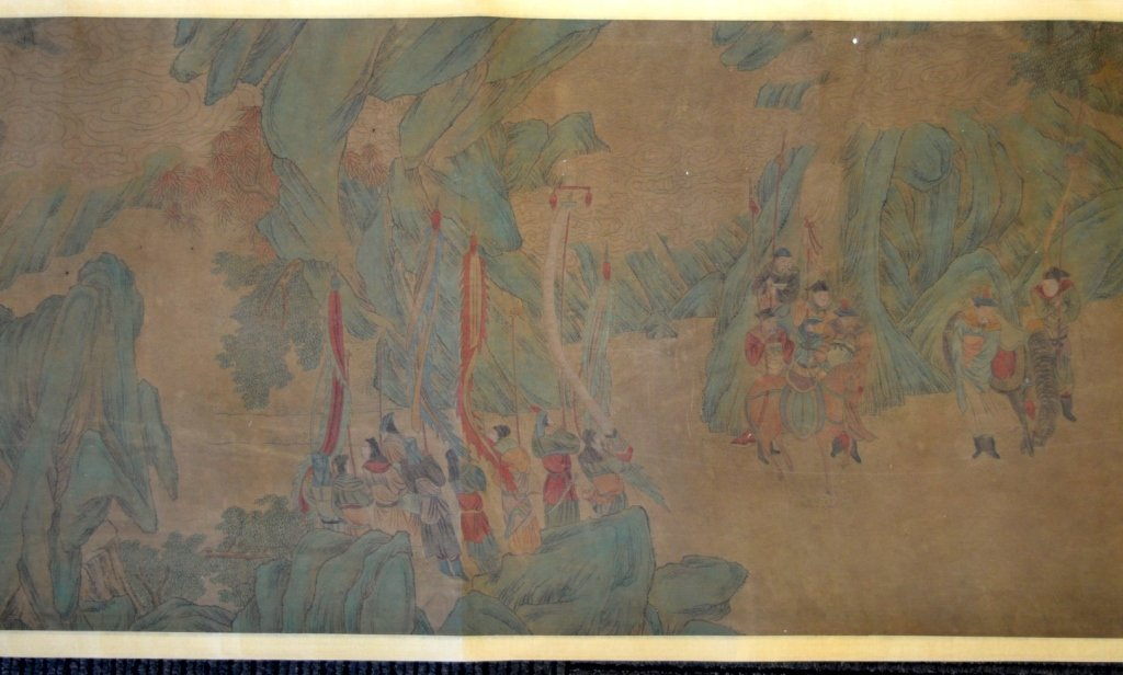 Long Chinese Historical Handscroll on Silk - 3