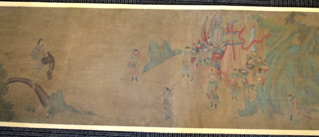 Long Chinese Historical Handscroll on Silk - 5
