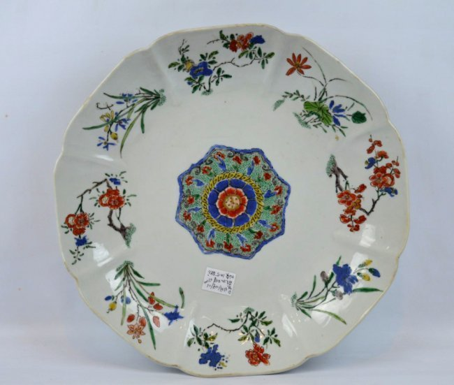 Fine Kangxi Famille Verte Chinese Porcelain Plate