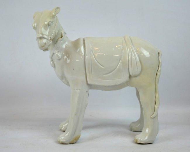 Very Rare 17th C Chinese Blanc de Chine Horse