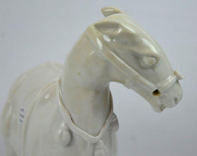Very Rare 17th C Chinese Blanc de Chine Horse - 2
