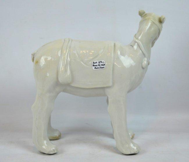 Very Rare 17th C Chinese Blanc de Chine Horse - 3
