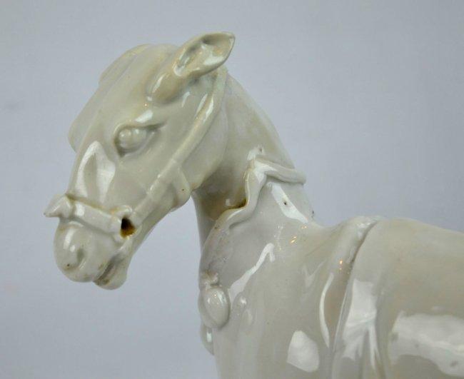 Very Rare 17th C Chinese Blanc de Chine Horse - 5