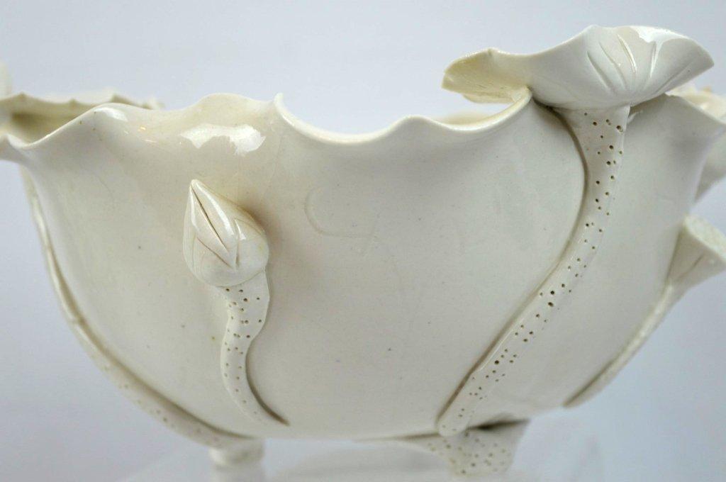 Chinese Blanc de Chine Lotus Leaf Bowl - 2
