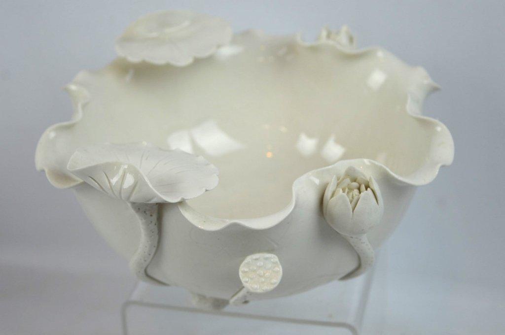 Chinese Blanc de Chine Lotus Leaf Bowl - 3