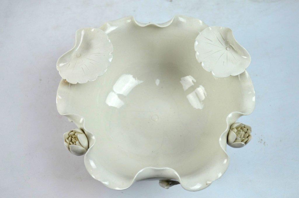 Chinese Blanc de Chine Lotus Leaf Bowl - 5
