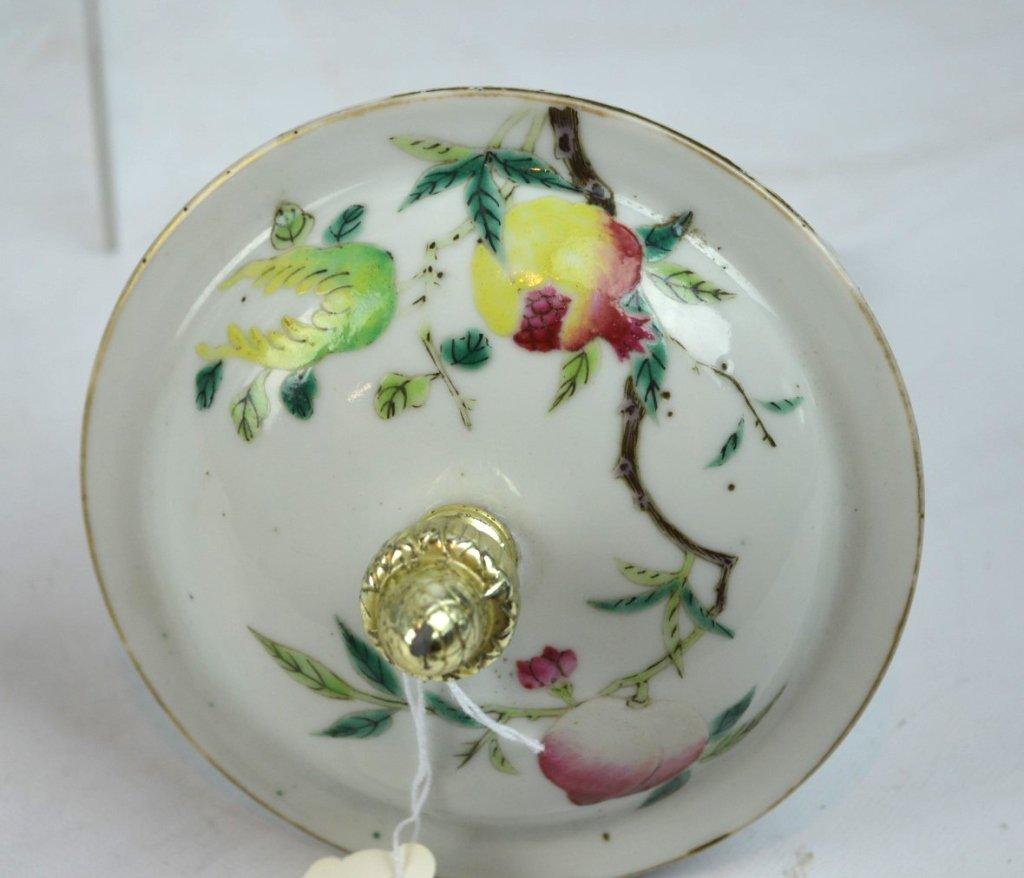 Chinese Enameled Porcelain 9-Peach Vase - 5