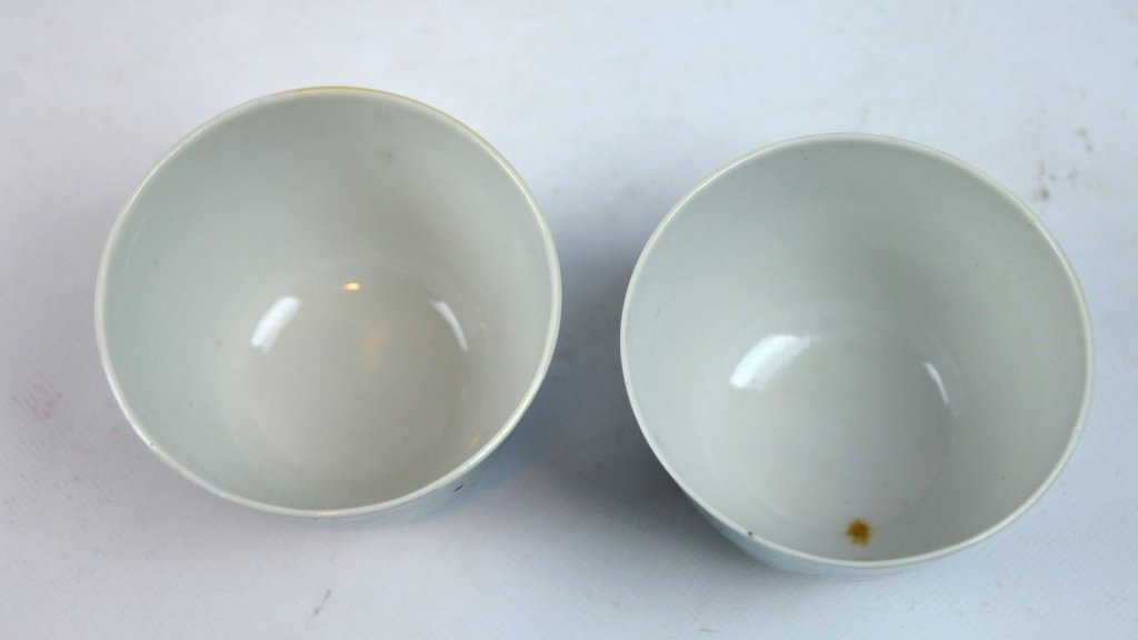 Good Pair of Chinese Robin's Egg Porcelain Cups - 6