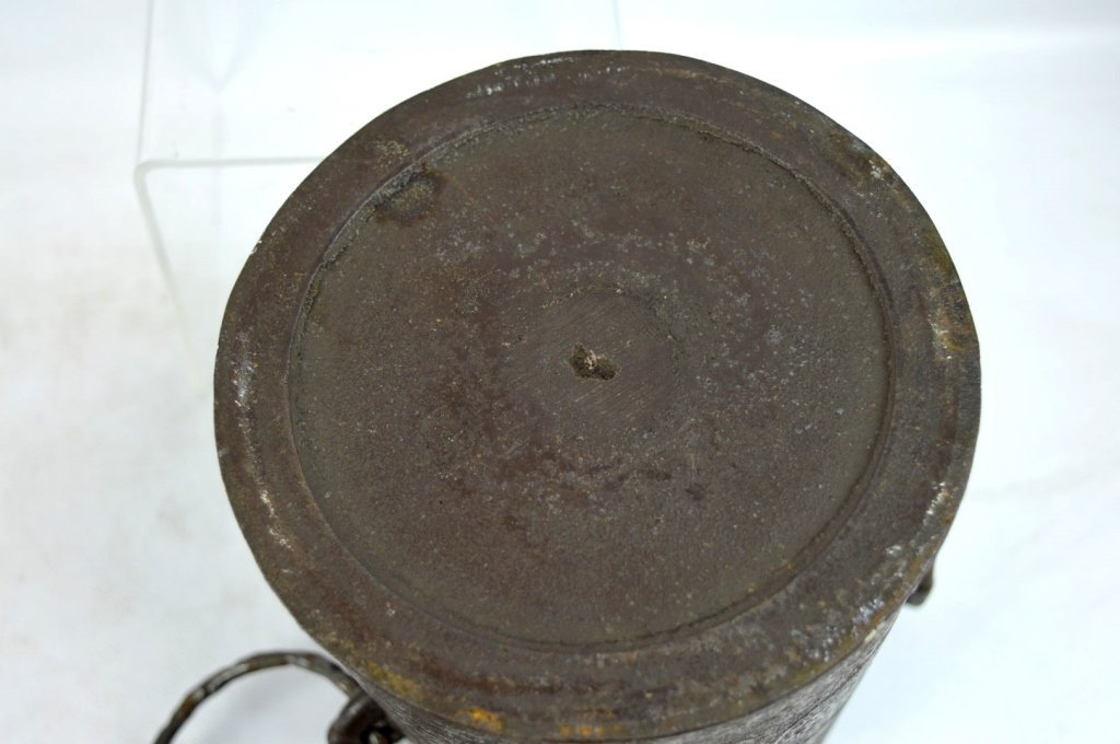 Antique Cast Iron Tea Ceremony Mizusashi - 8