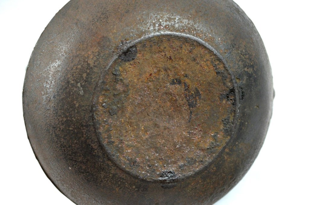 Good Japanese Iron Water Pot; Signed Bronze Lid - 8