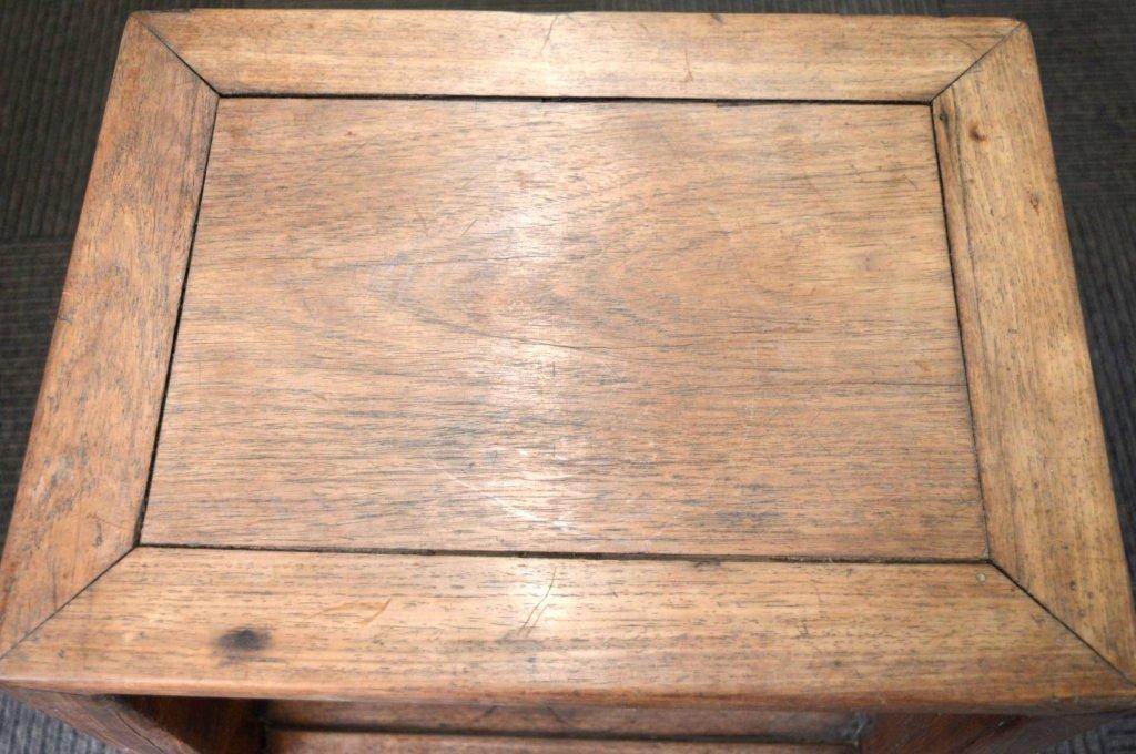 Chinese Hardwood Side Table with Shelf. - 2