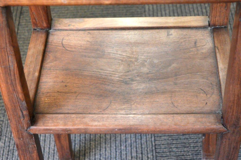 Chinese Hardwood Side Table with Shelf. - 3