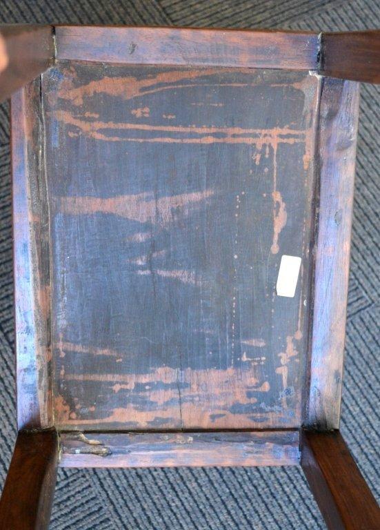 Chinese Hardwood Side Table with Shelf. - 6