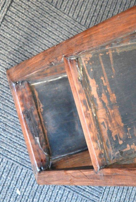 Chinese Hardwood Side Table with Shelf. - 7