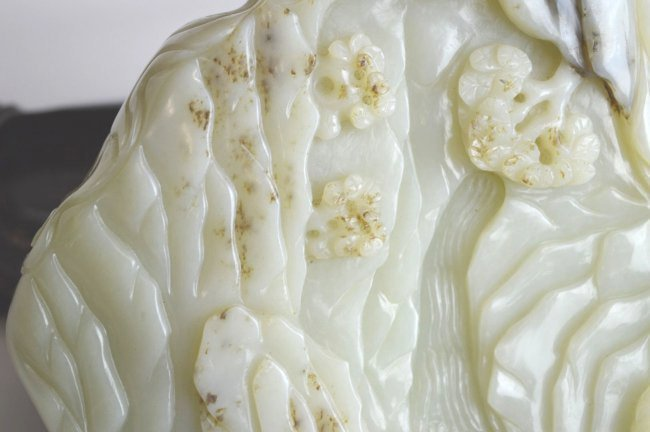 Large & Important Chinese Carved Jade Mountain - 4