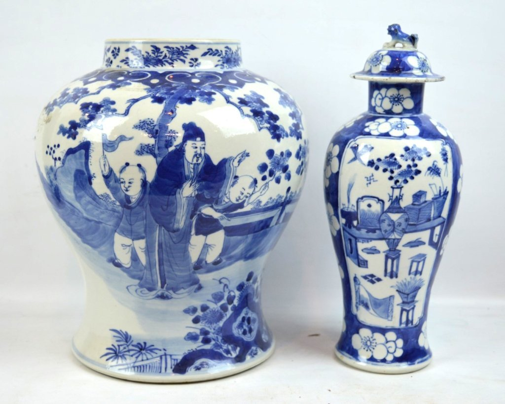 2 - 19th C Chinese Blue & White Porcelains