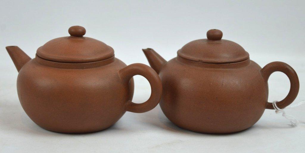 2 - Late Qing Chinese Yixing Teapots