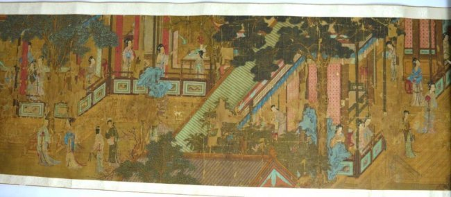 Rare Early Qing Chinese 100 Beautiful Women Scroll