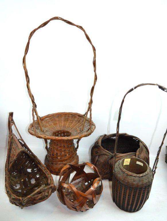 Christie's - 5 - Antique Japanese Ikebana Baskets