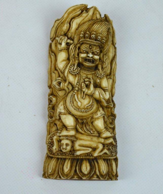 Antique Tibetan Carved Mahakala Figures