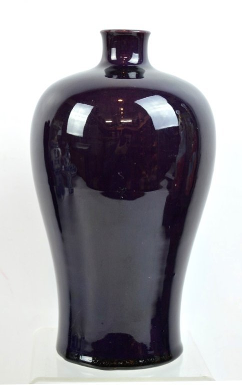 Chinese Aubergine over Biscuit Porcelain Meiping