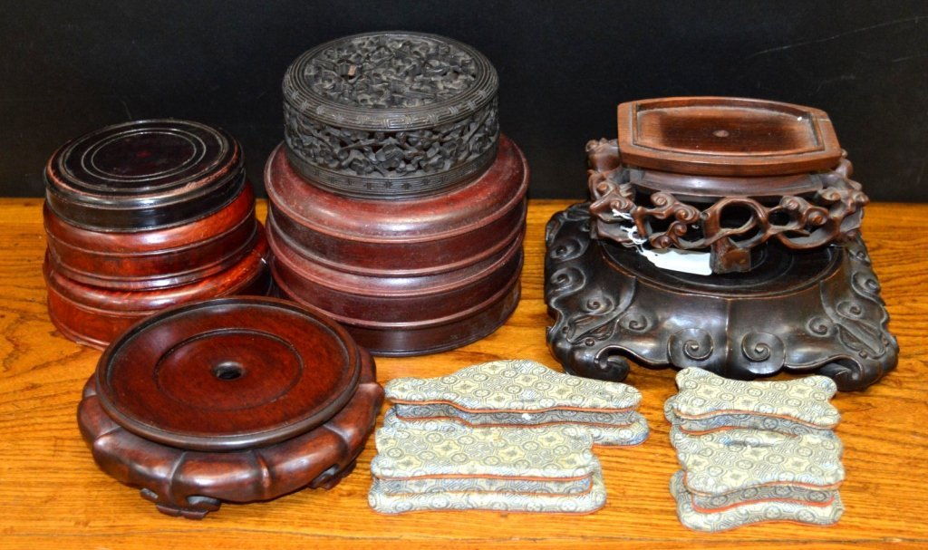 14 - Antique Chinese Stands or Covers