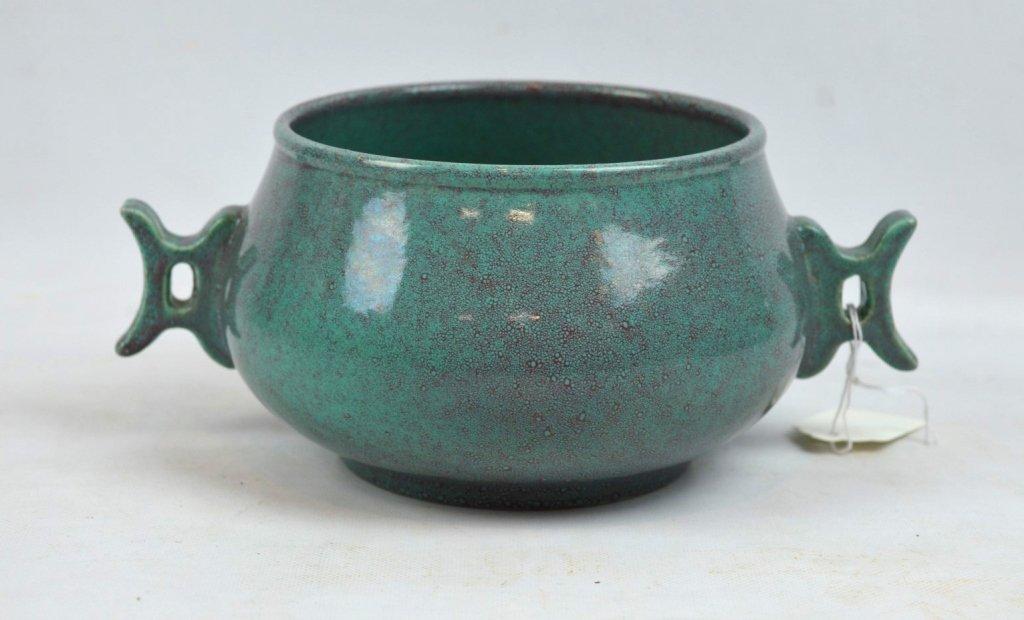 Old Chinese Robin's Egg Glazed Porcelain Censer