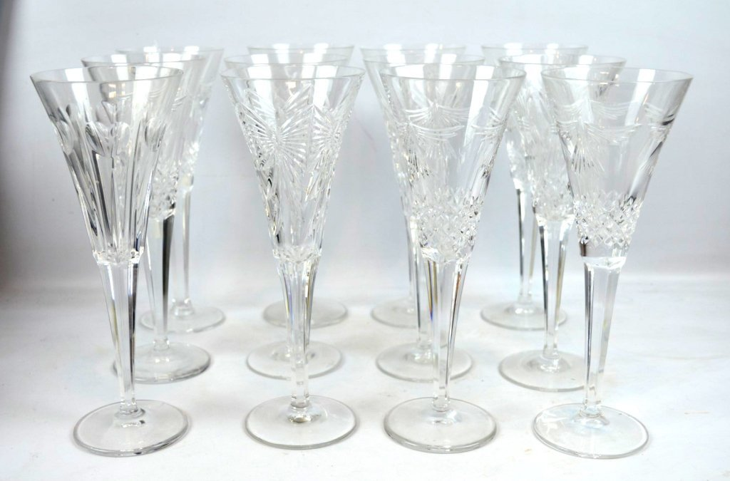 "12 Waterford Crystal ""Millennium Series"" Champagne"