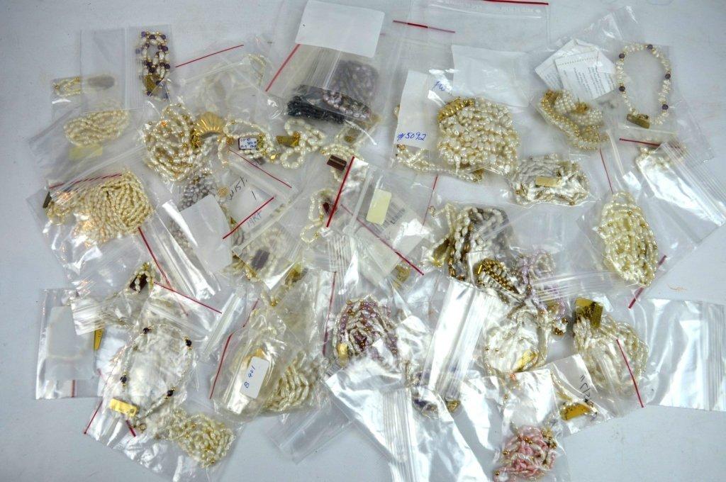 Group Pearl Earrings, Necklaces, Bracelets in 14K