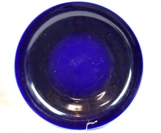 Large Chinese Cobalt Blue Glazed Porcelain Bowl