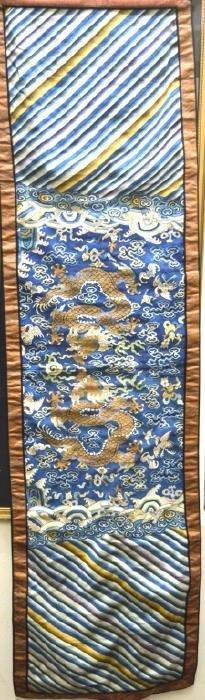 Qing Dynasty Chinese Silk Dragon Kesi Panel