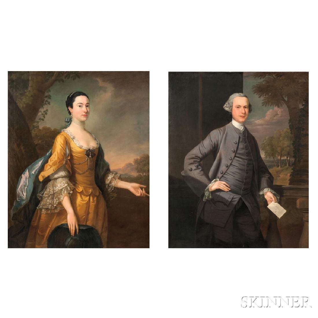 Thomas Hudson (British, 1701-1779) Pair of Portraits: