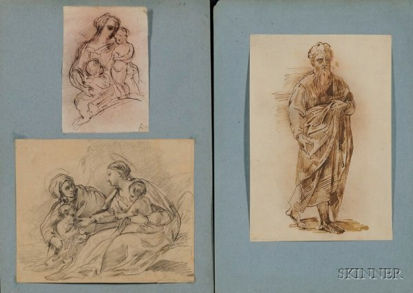 10: Lot of Fourteen Old Master Style Drawings: Various