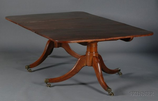 13: George III Mahogany Two-Pedestal Dining Table, earl