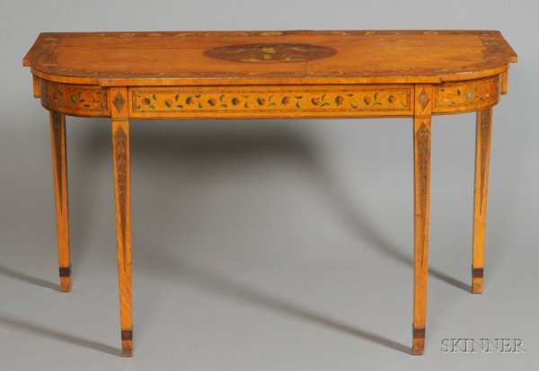21: George III Polychrome Painted Satinwood Console Tab