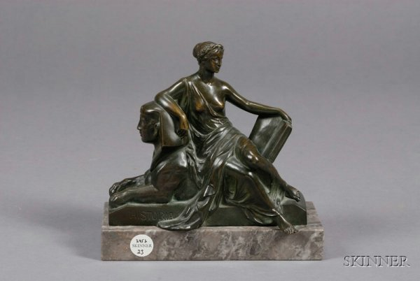 23: Bronze Figural Group, late 19th century, depicting