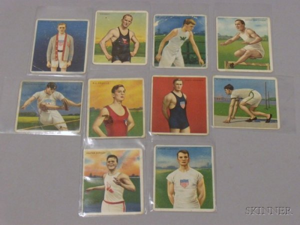 3: Ten Hassan Cigarette No. 2 Series Cards, including t